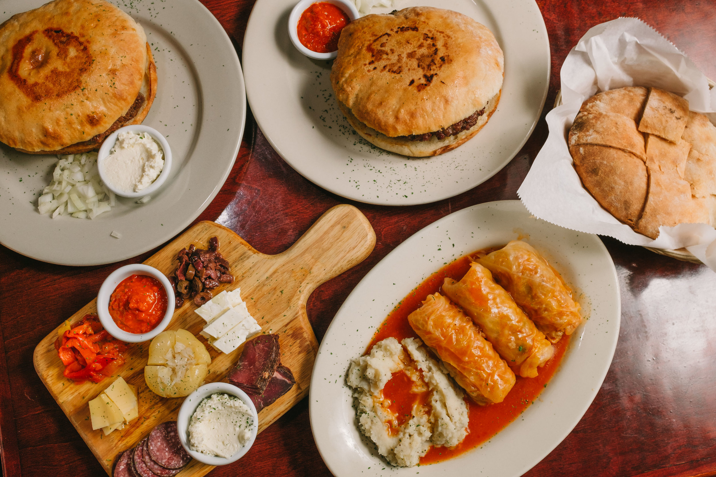 Bosnian food is a fusion of Greek, Turkish, Russian, and European flavors.