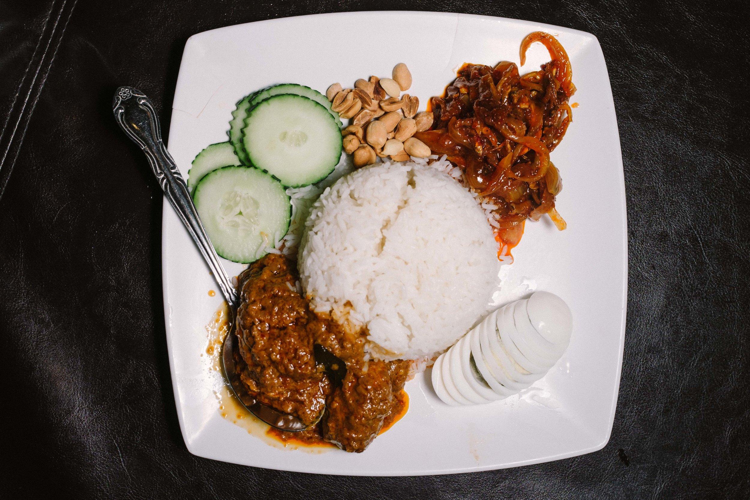 Nasi Lemak, the national dish of Malaysia