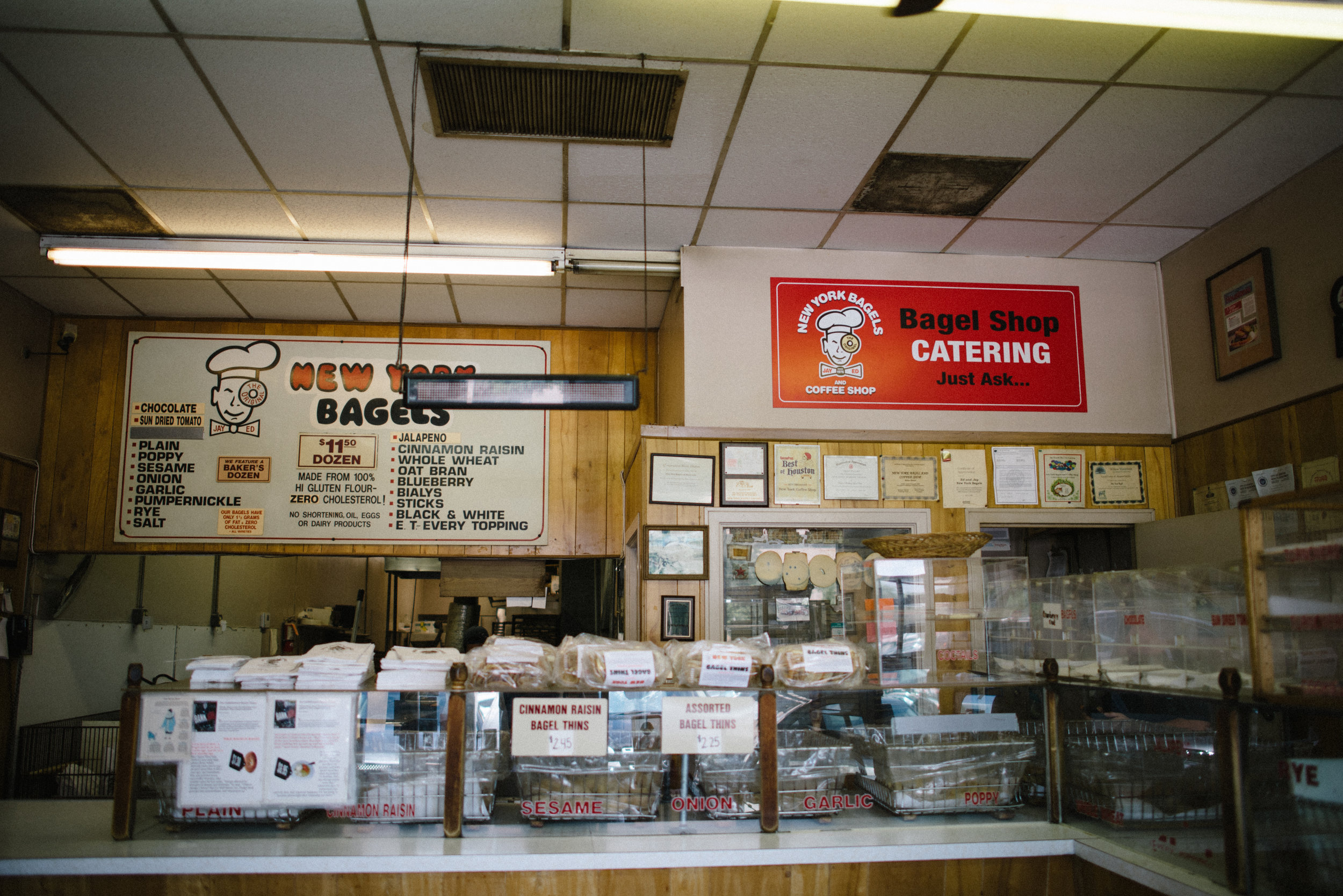 The bakery sits next to the diner and is Kosher