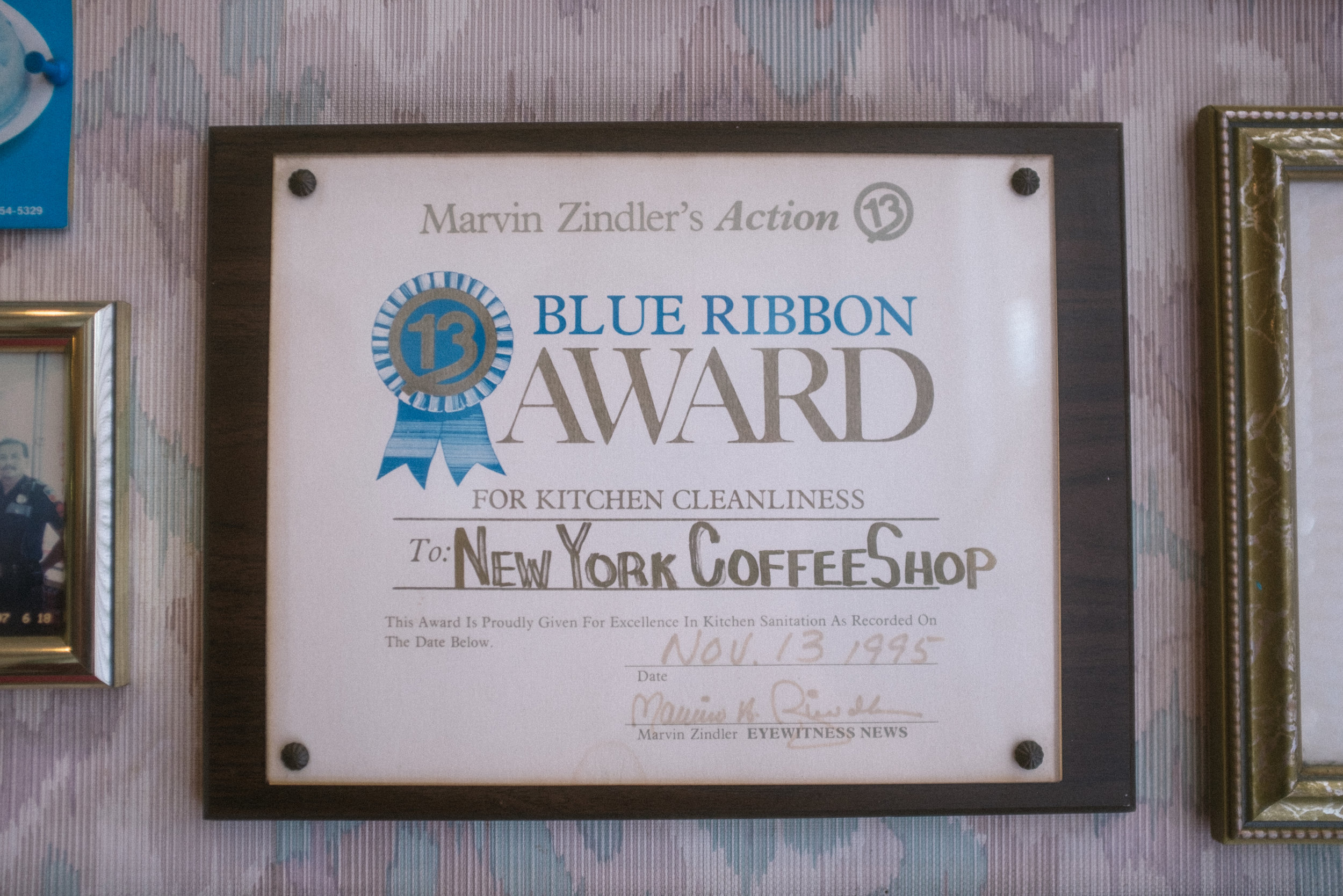 Nothing shows that you are part of Houston's warp and woof like an award from Houston's original foodie, Marvin Zindler. (Kids, youtube this one....)