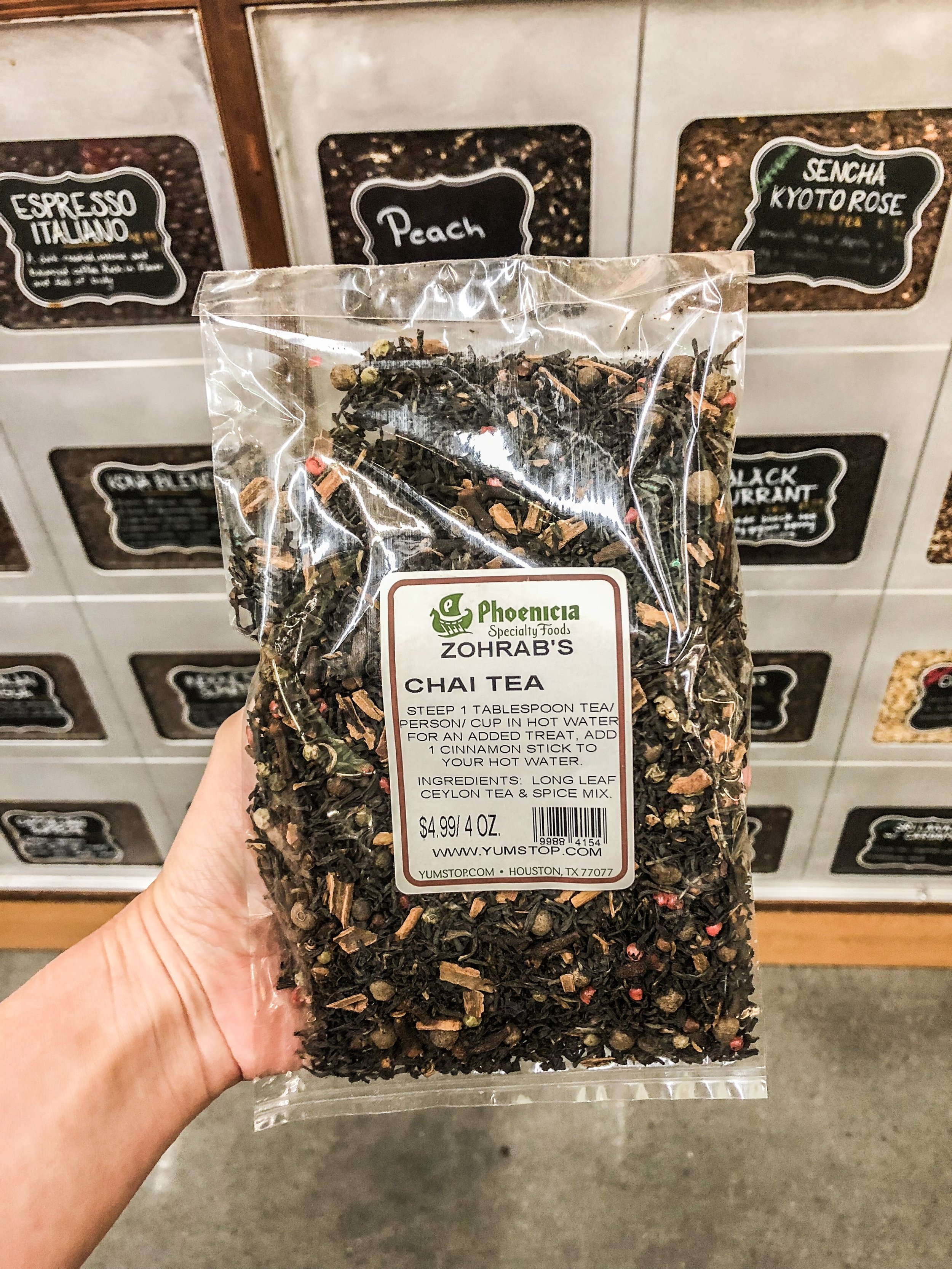 Zohrab's homemade tea blend - It's so good, they had to sell it in their stores!