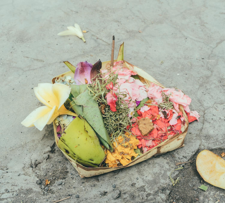 morning ceremony in Bali