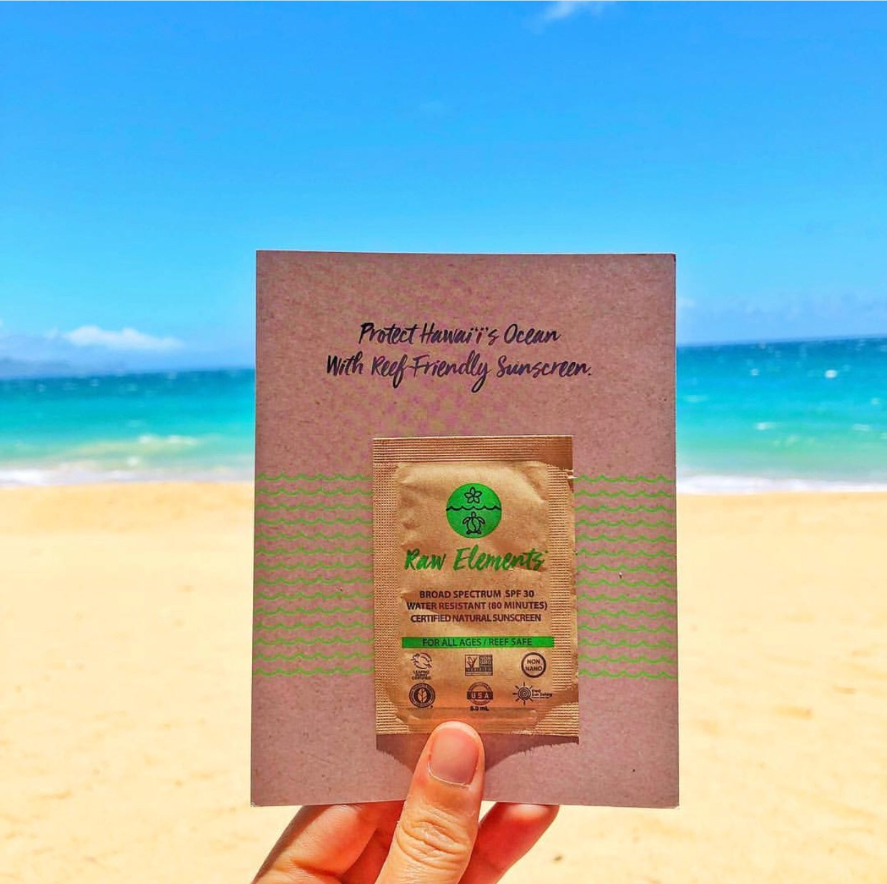 Mahalo, Hawaiian Airlines, for spreading the awareness and offering reef safe sunscreen and samples on your flights!