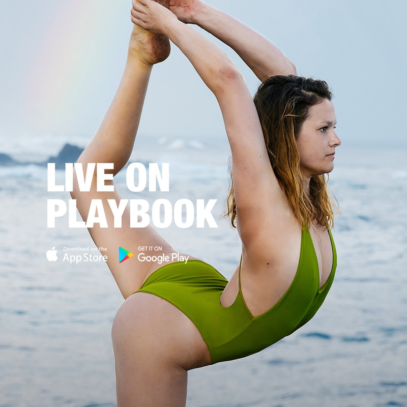 Flow, practice and laugh with me weekly… - Hello and aloha movers and shakers! I am now sharing my daily practice + programs on the Playbook App! Along with the handstand program you will find creative movements, dynamic flows and an arm balance program. It is a great supplement to my book/ebooks and you can join me for just $2.08 per week. I am excited to have another way to teach and connect globally. Feel free to make requests and ask any questions on your mind/body!