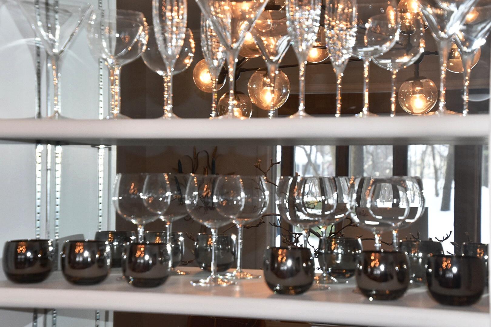 Our pretty glassware...