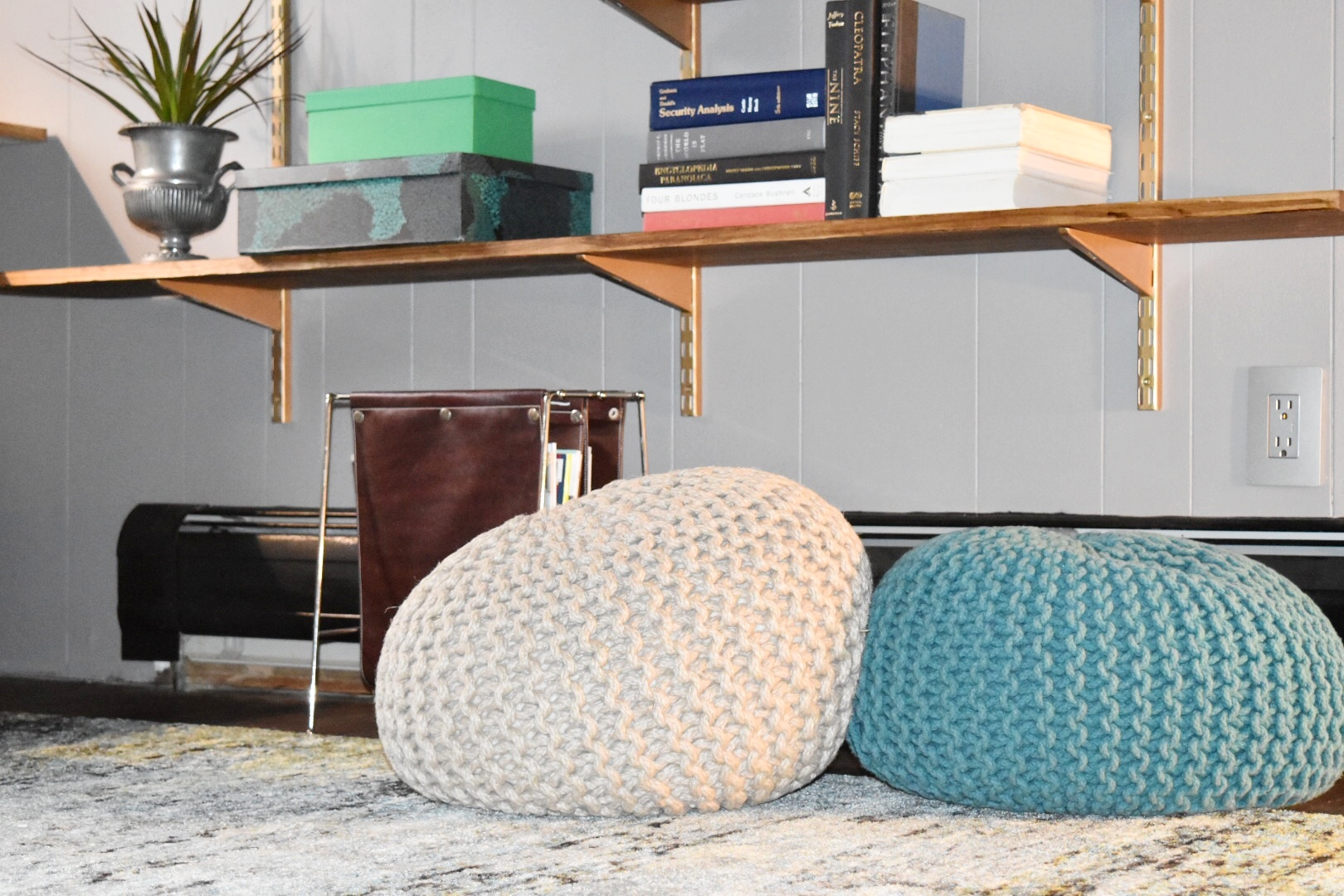 The  Rugs USA rug  incorporated every color in the space, tying things together