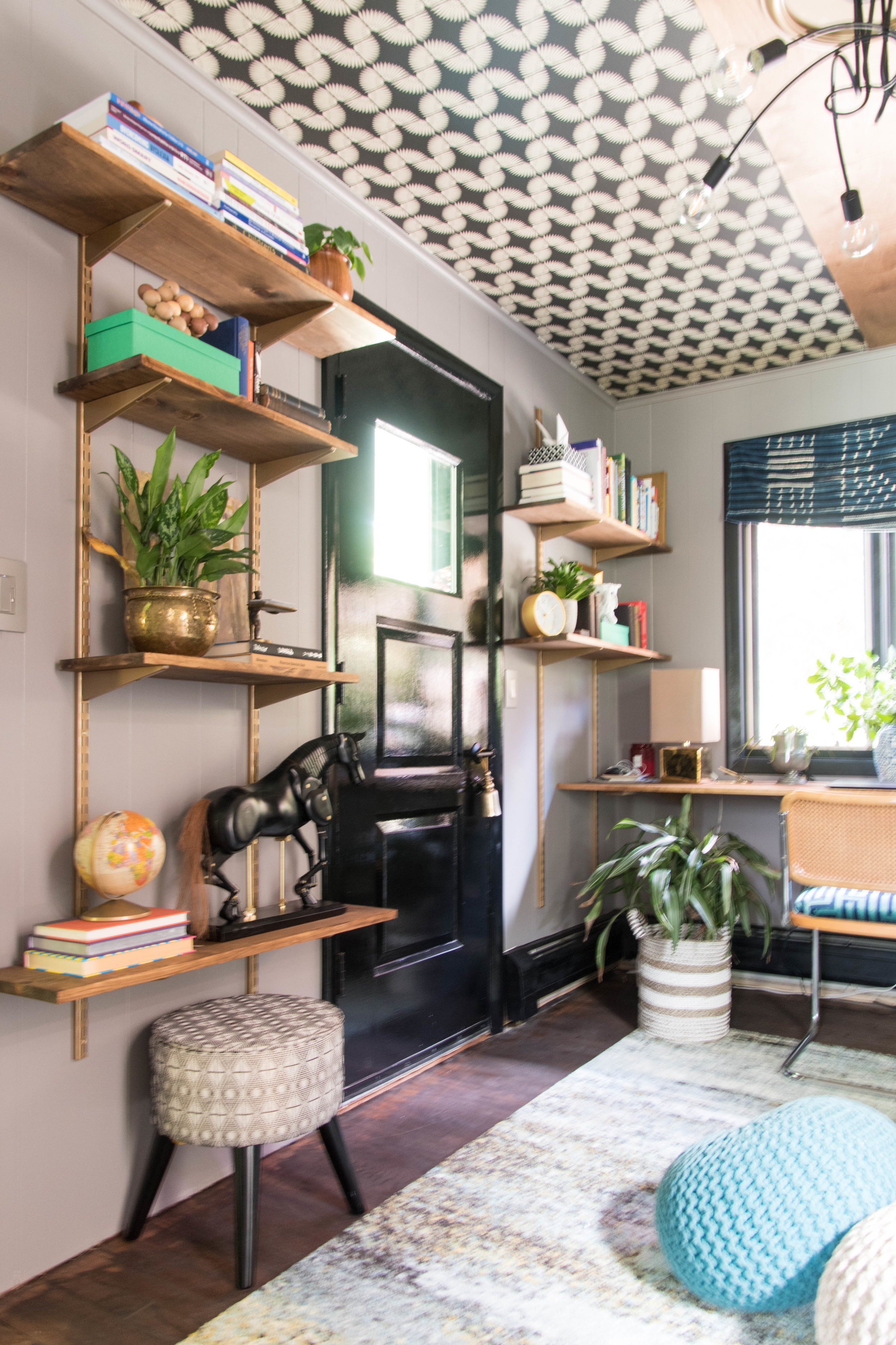 modern eclectic midcentury office diy remodel therathproject