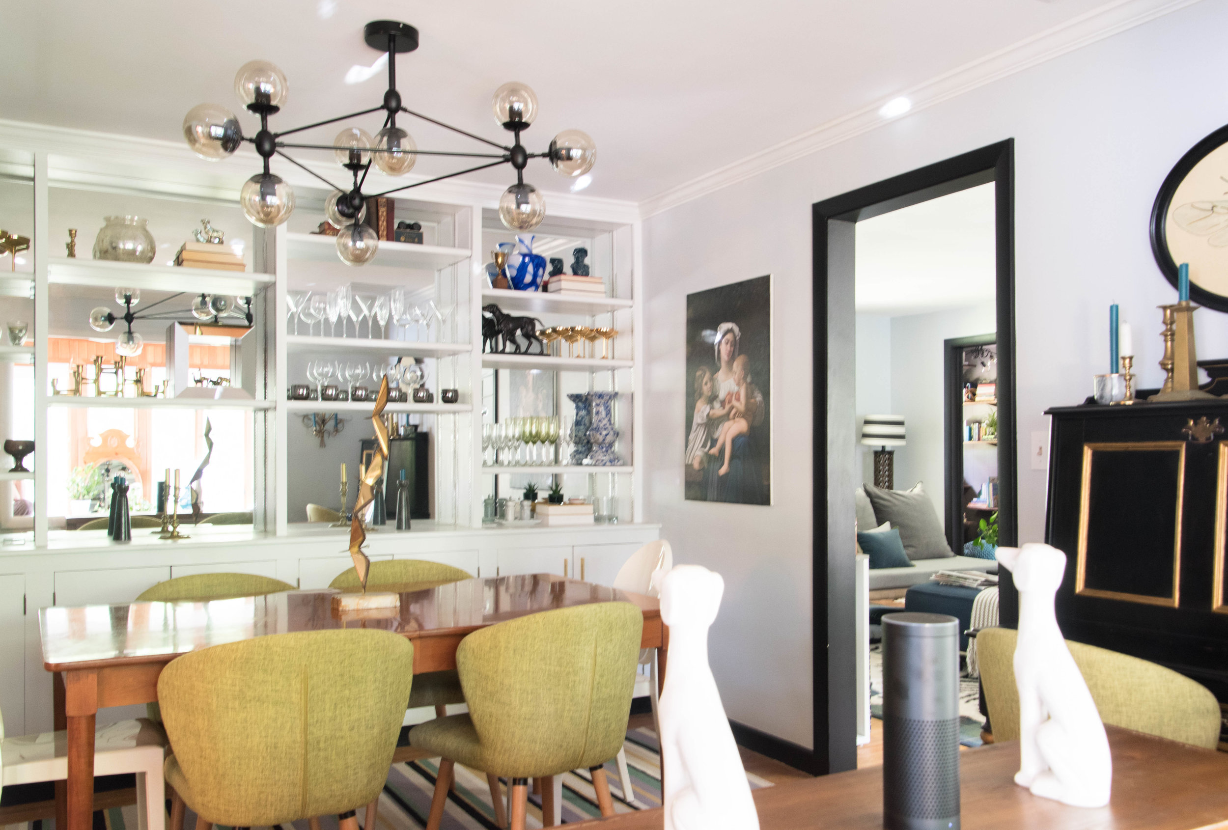 modern eclectic midcentury playful glam hollywood remodel therathproject