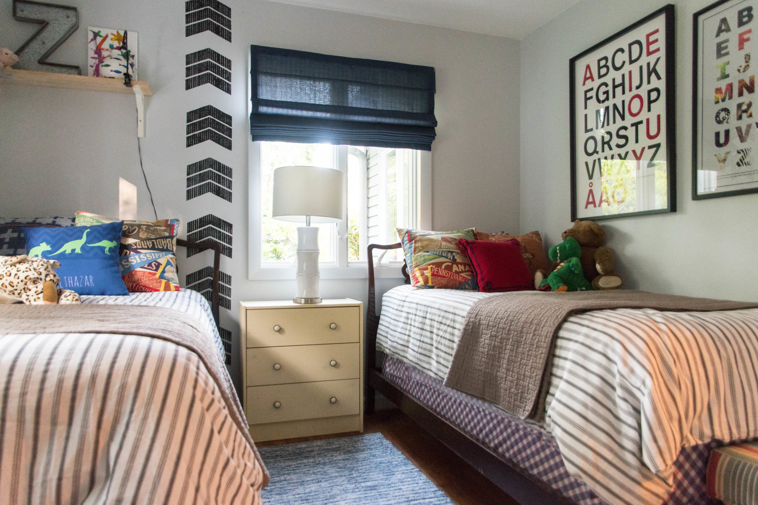 eclectic patterned colorful vintage kids room remodel therathproject