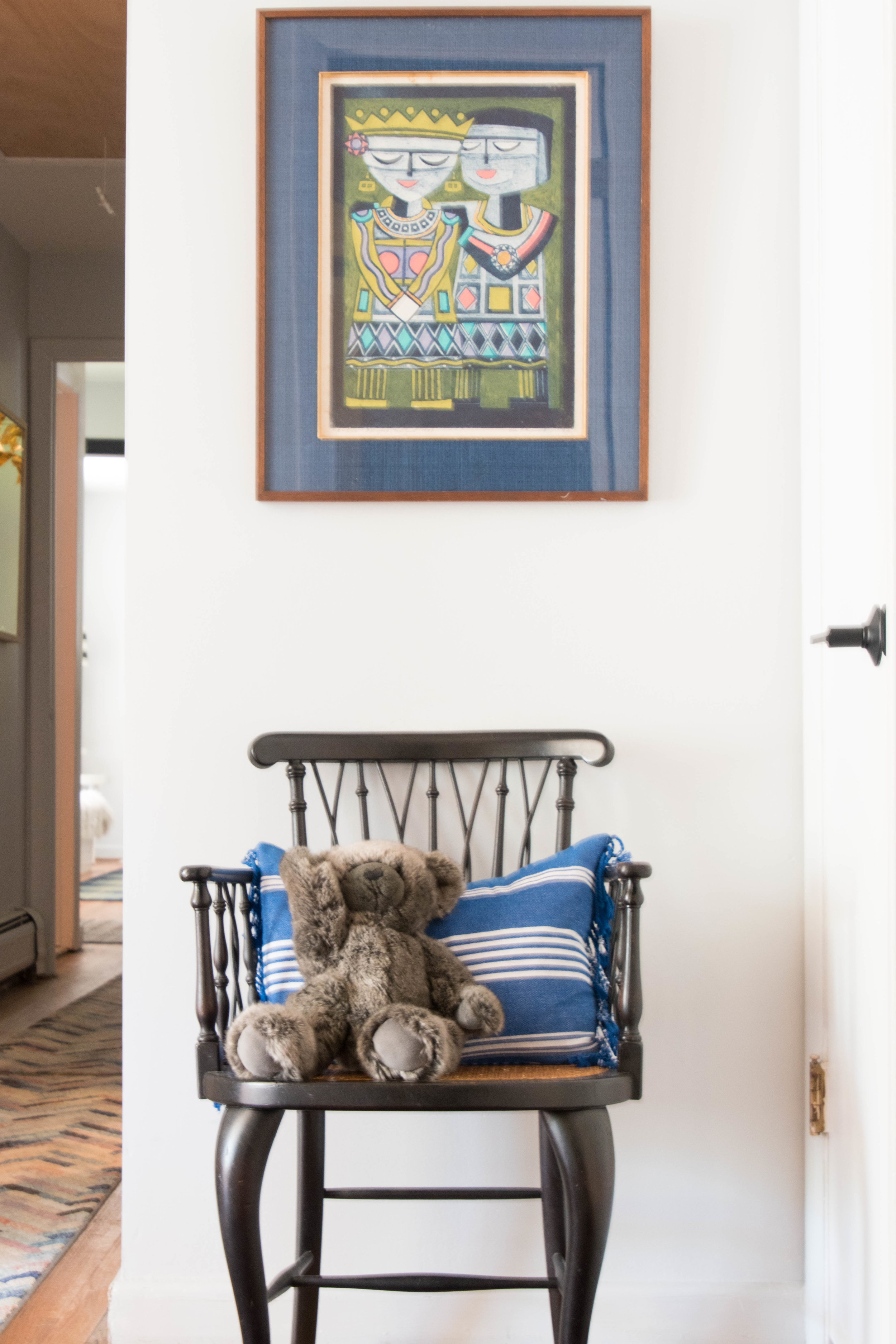 modern eclectic colorful vintage hallway design therathproject