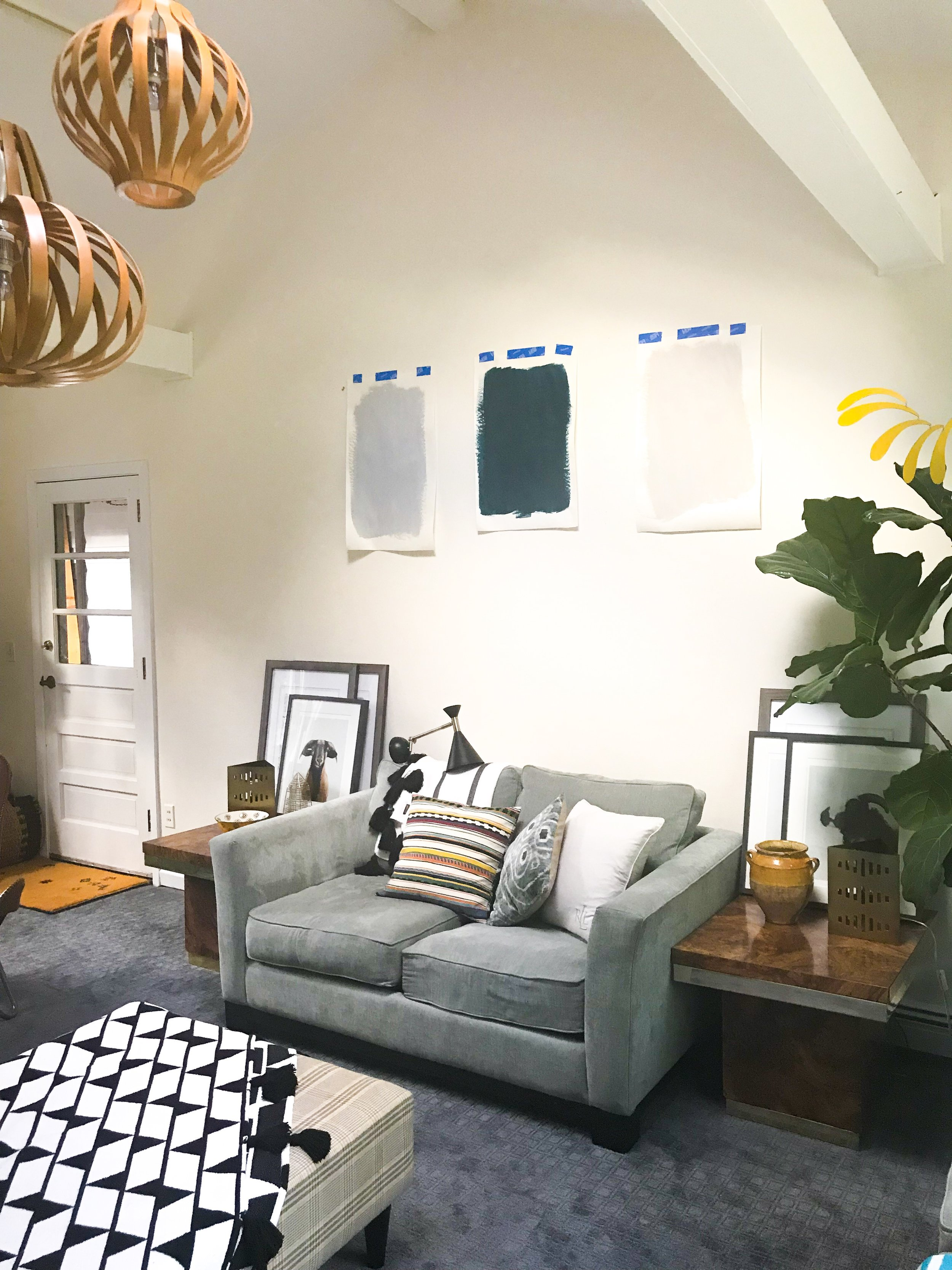 Family Room Remodel Paint Colors and Wood  Pendants The Rath Project
