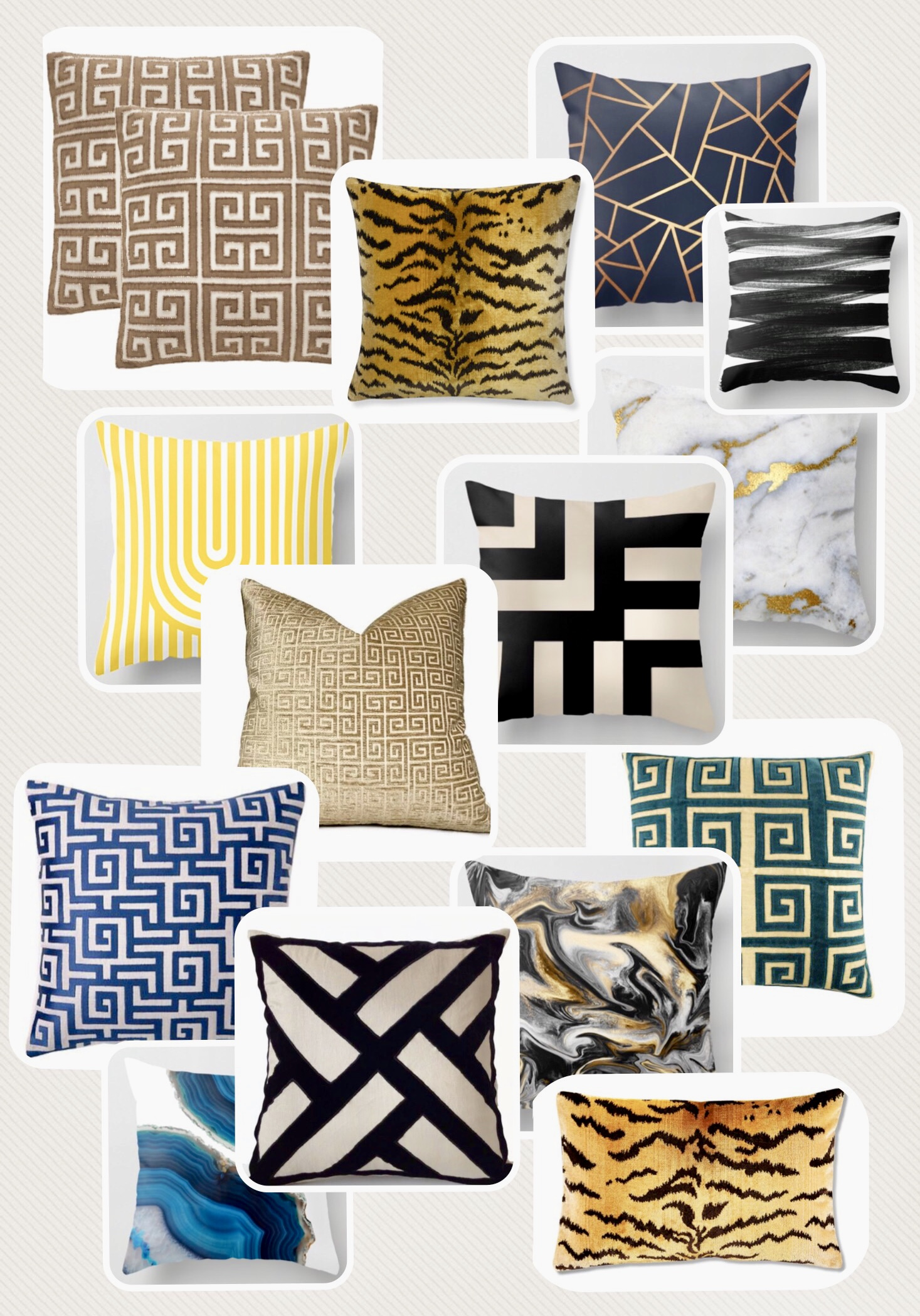 textured patterned colorful pillow choices The Rath Project