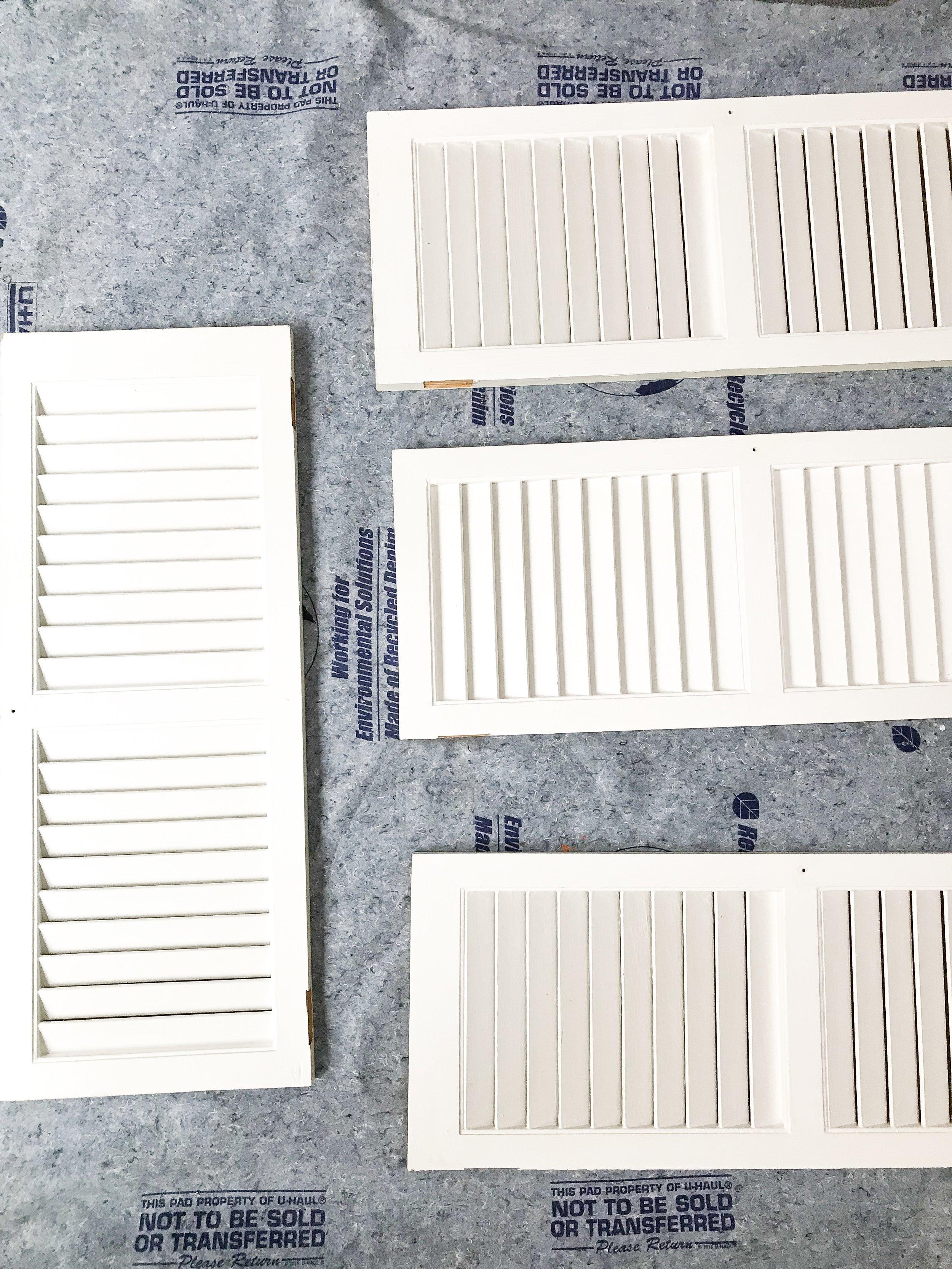 shutter style mid century cabinet doors
