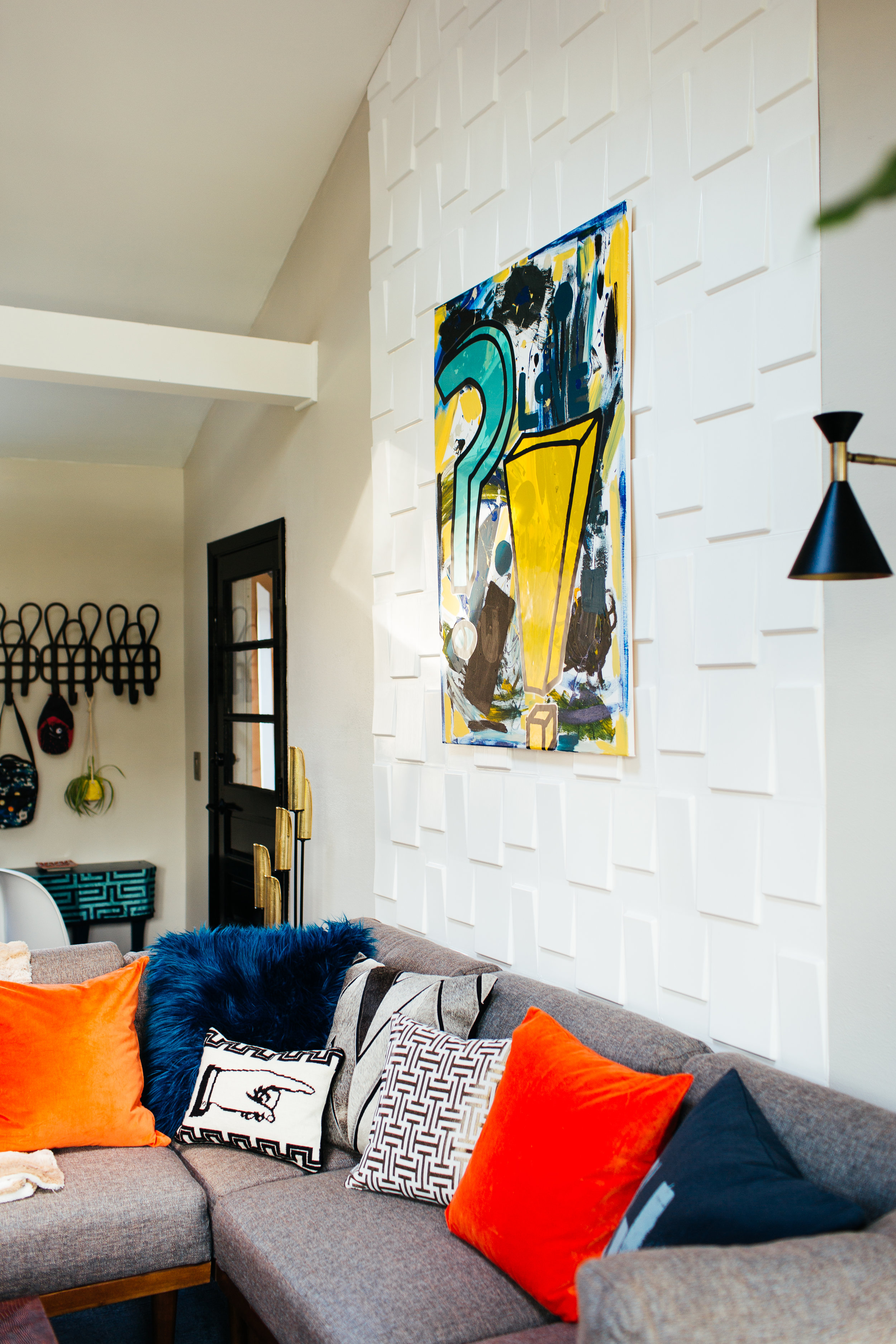 modern eclectic family room design by the rath project