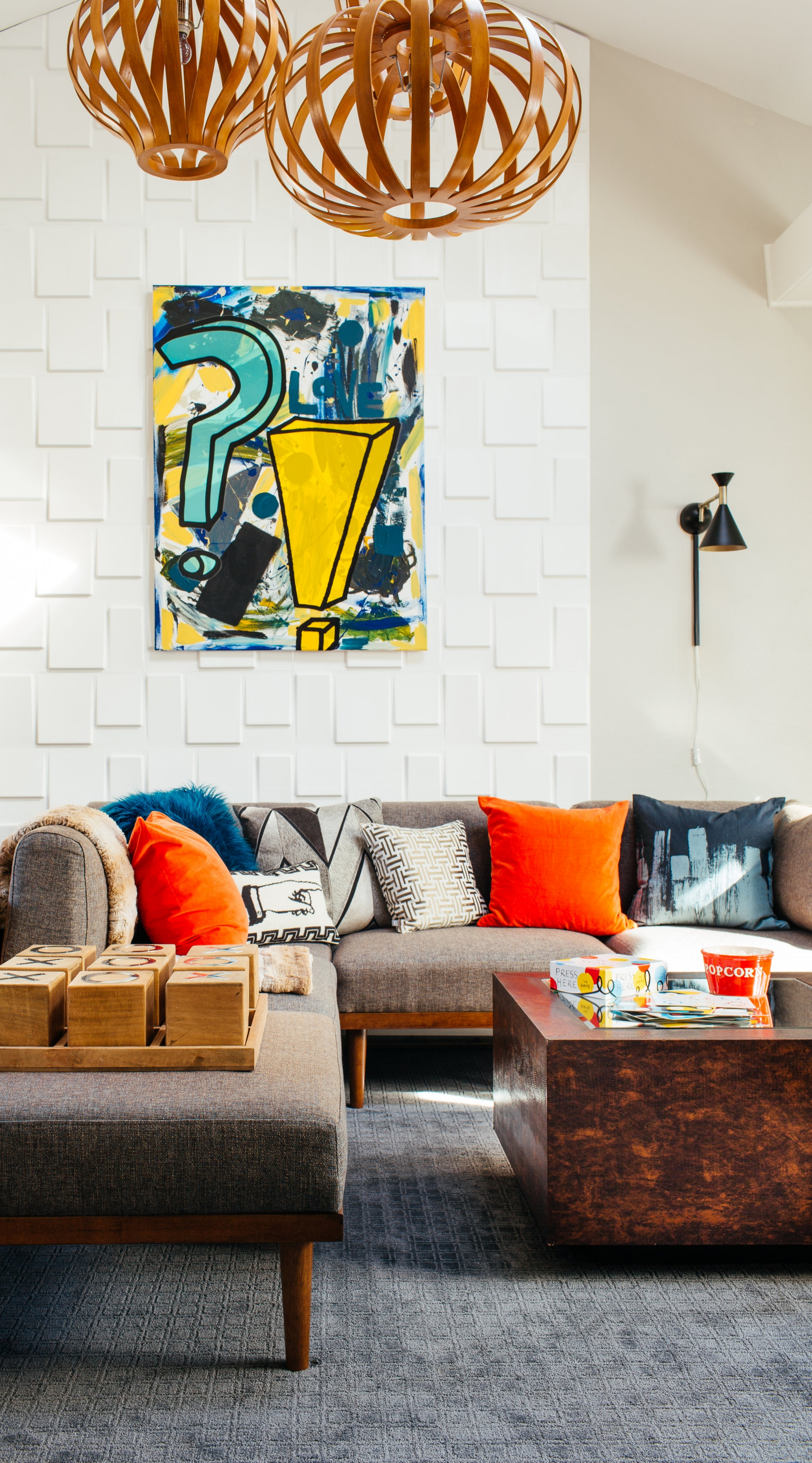 modern eclectic family room by the rath project