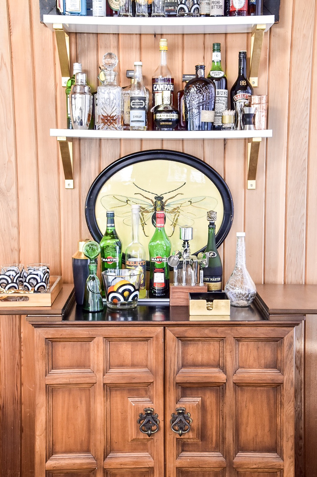 Eclectic Mid Century-STYLING IN PROGRESS- bar by The Rath Project