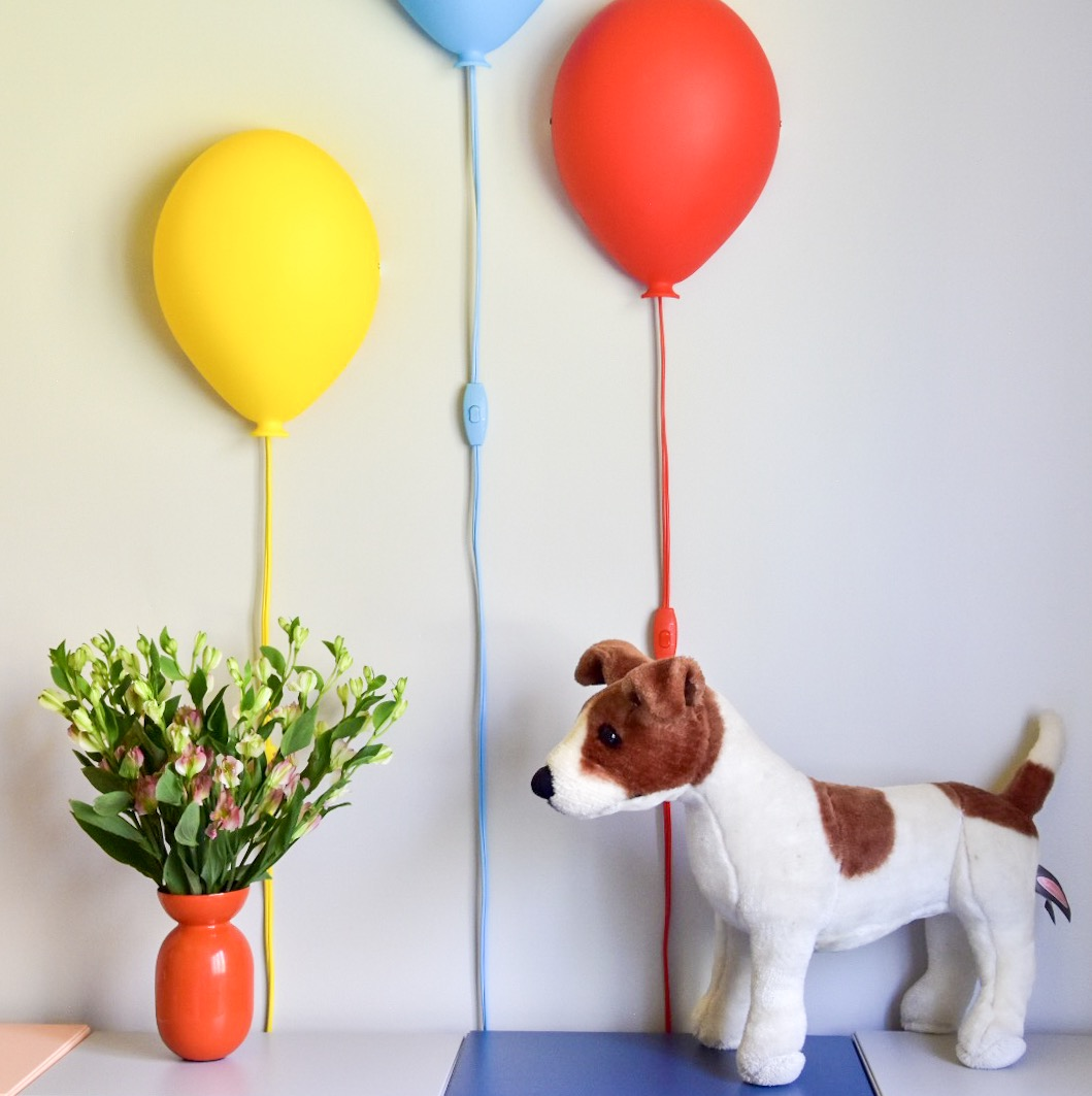 Eclectic modern Colorful kids room with balloon lights  by Diane Rath The Rath Project