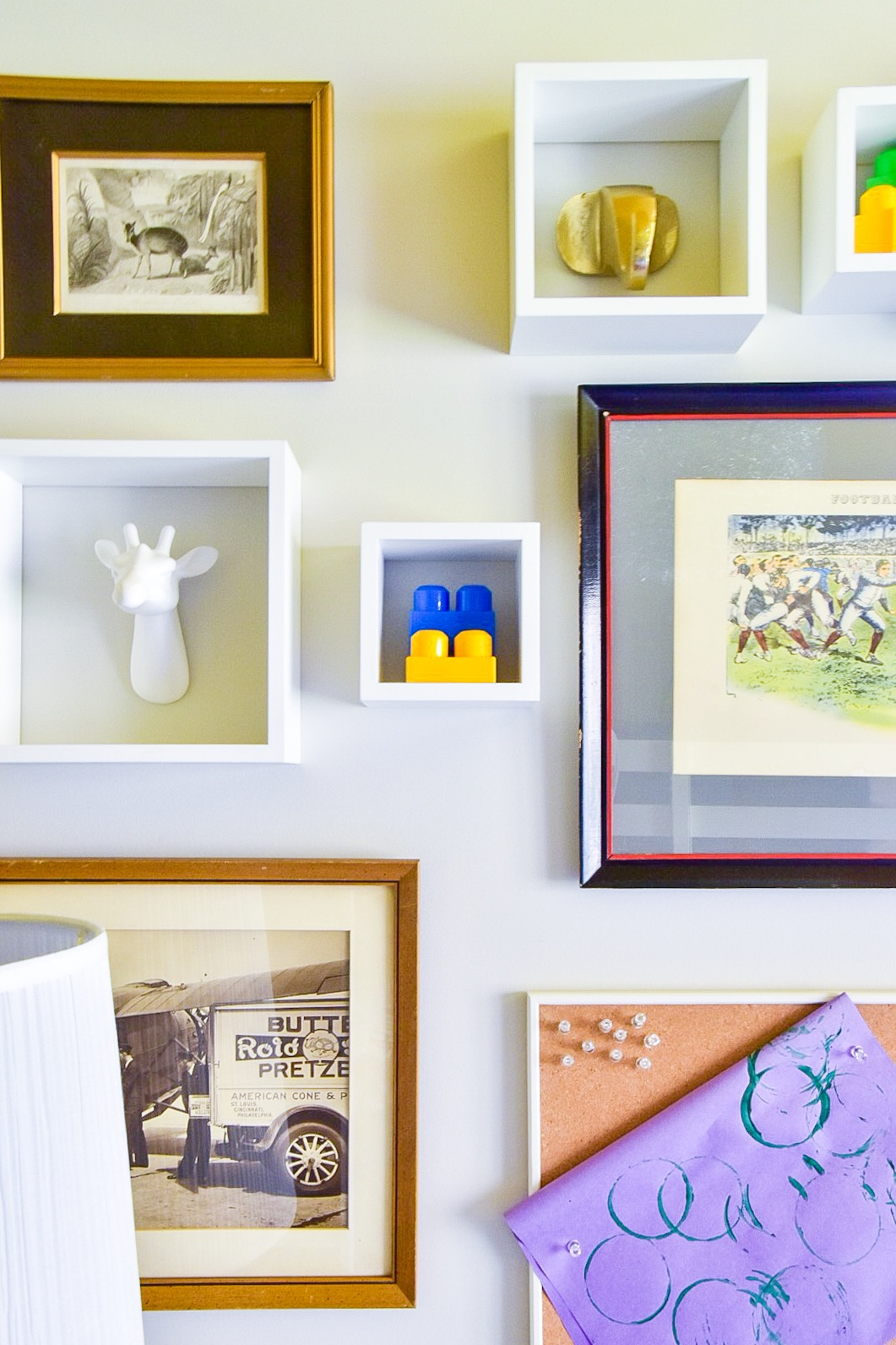 IMG_7250.JPGEclectic modern Colorful kids room gallery wall by Diane Rath The Rath Project