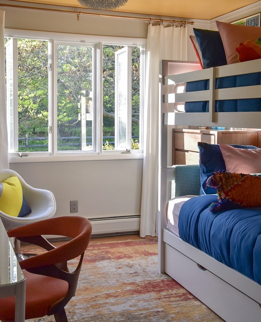 Modern colorful kid's bedroom designed by Diane Rath of The Rath Project