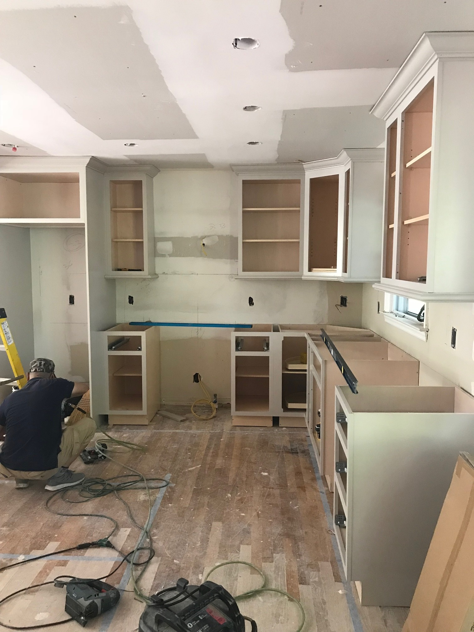 in progress classic modern kitchen at project fairfield flip by the rath project