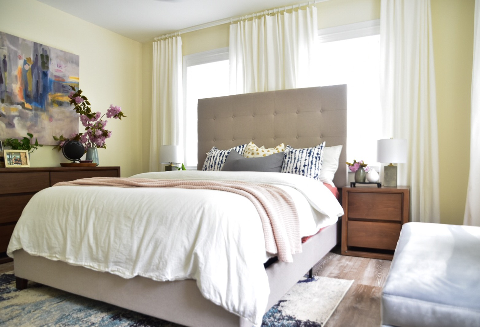 Bedroom furniture in Habitat for Humanity house