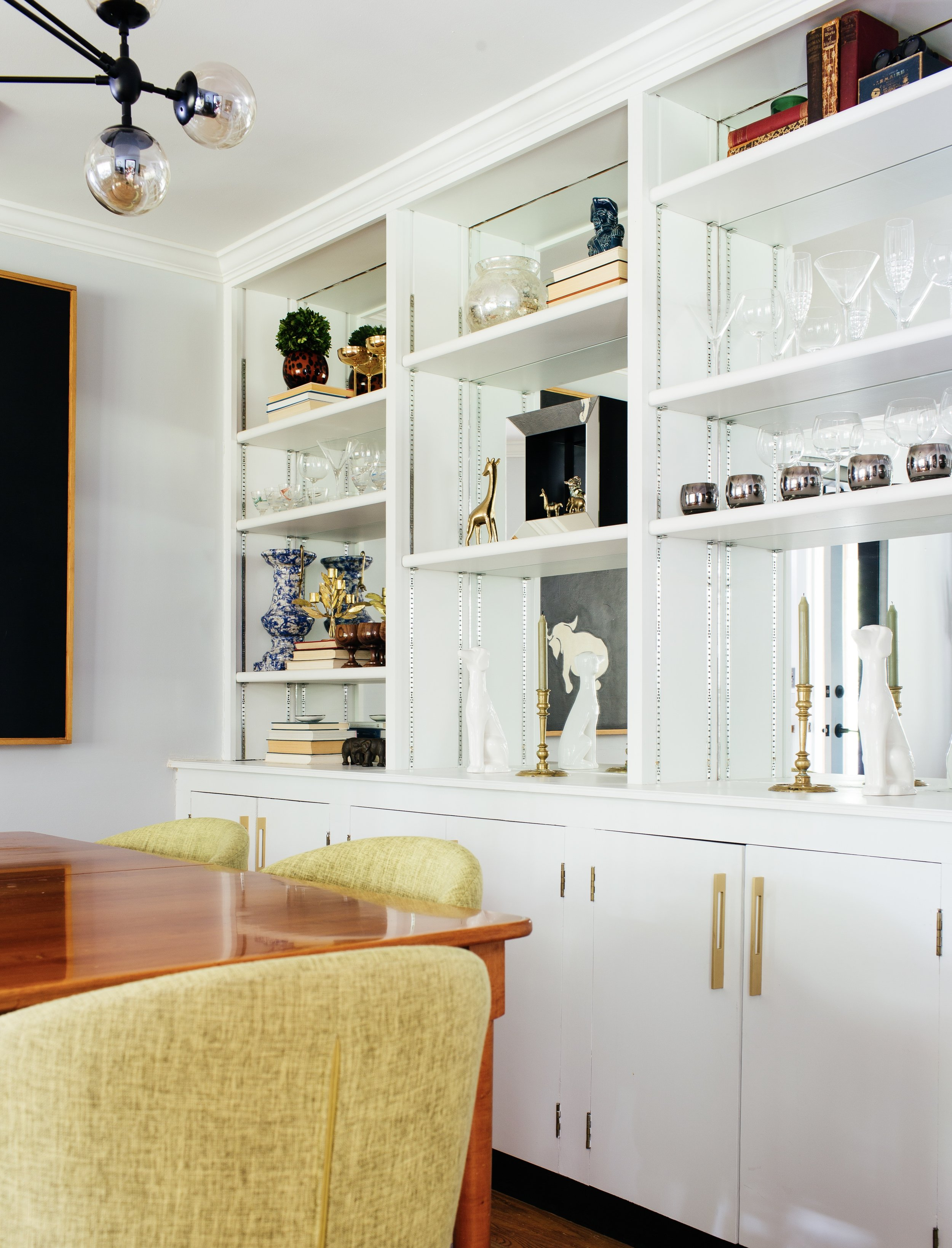 mirrored built in dining room by the rath project