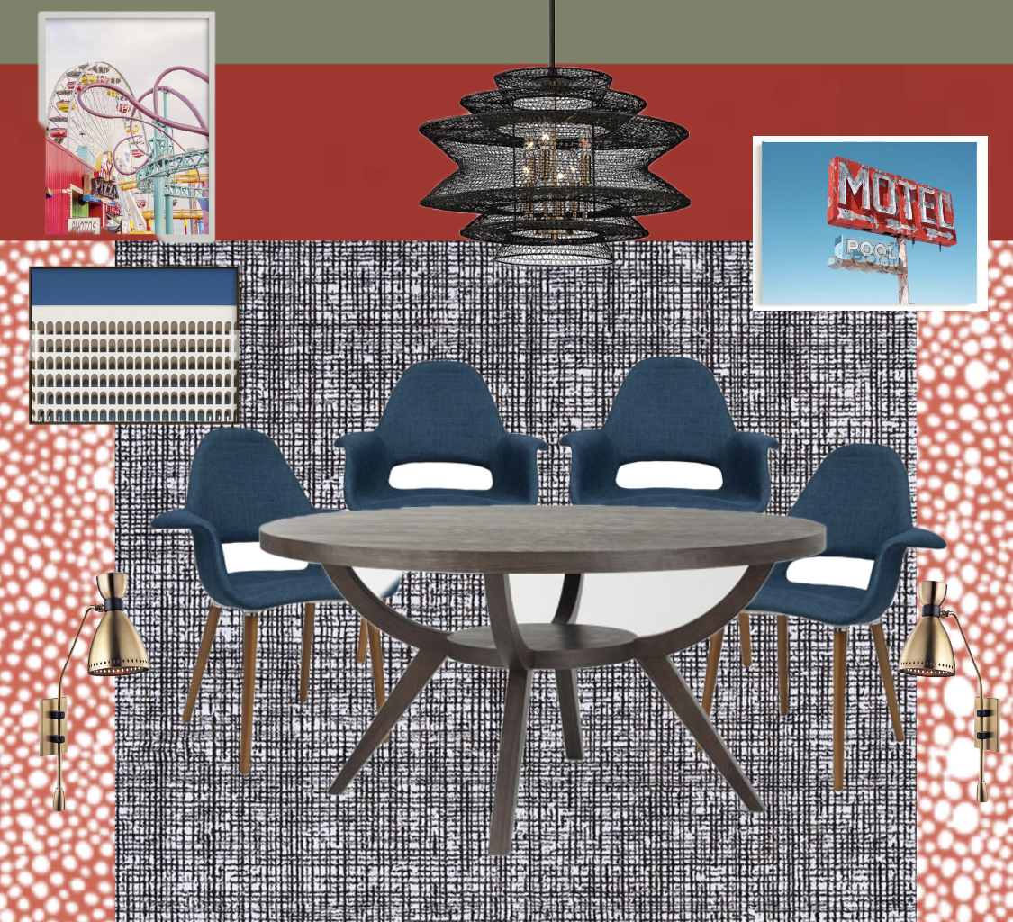 modern mid century inspired dining room concept by the rath project