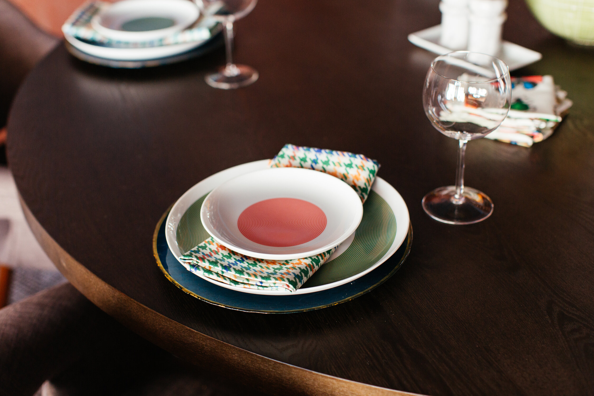 ORC table setting by TheRathProject close up with spoonflower napkins.jpg