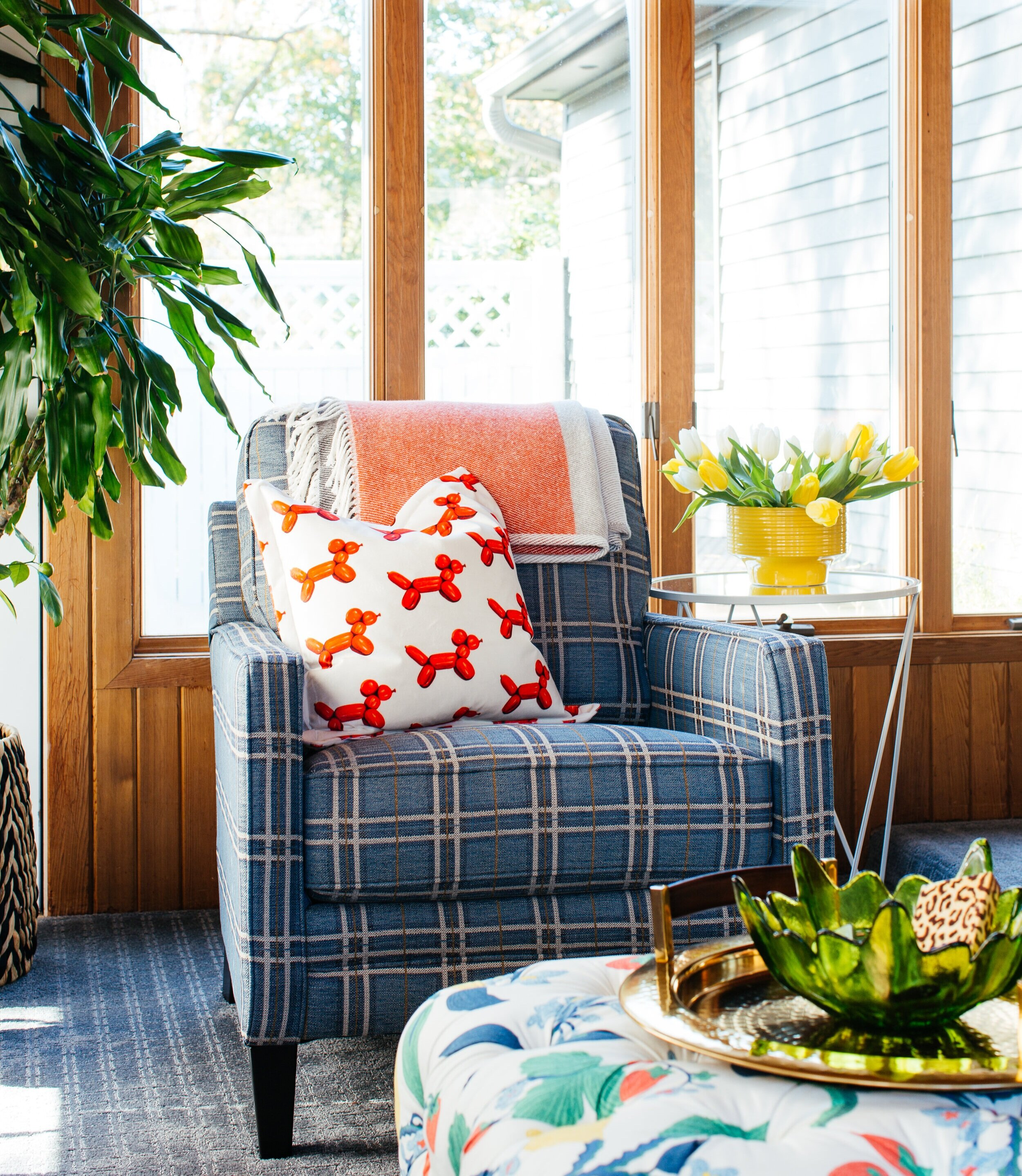 ORC+sun+room+design+by+TheRathProject+plaid+club+chair+Raymour+Flanigan.jpg