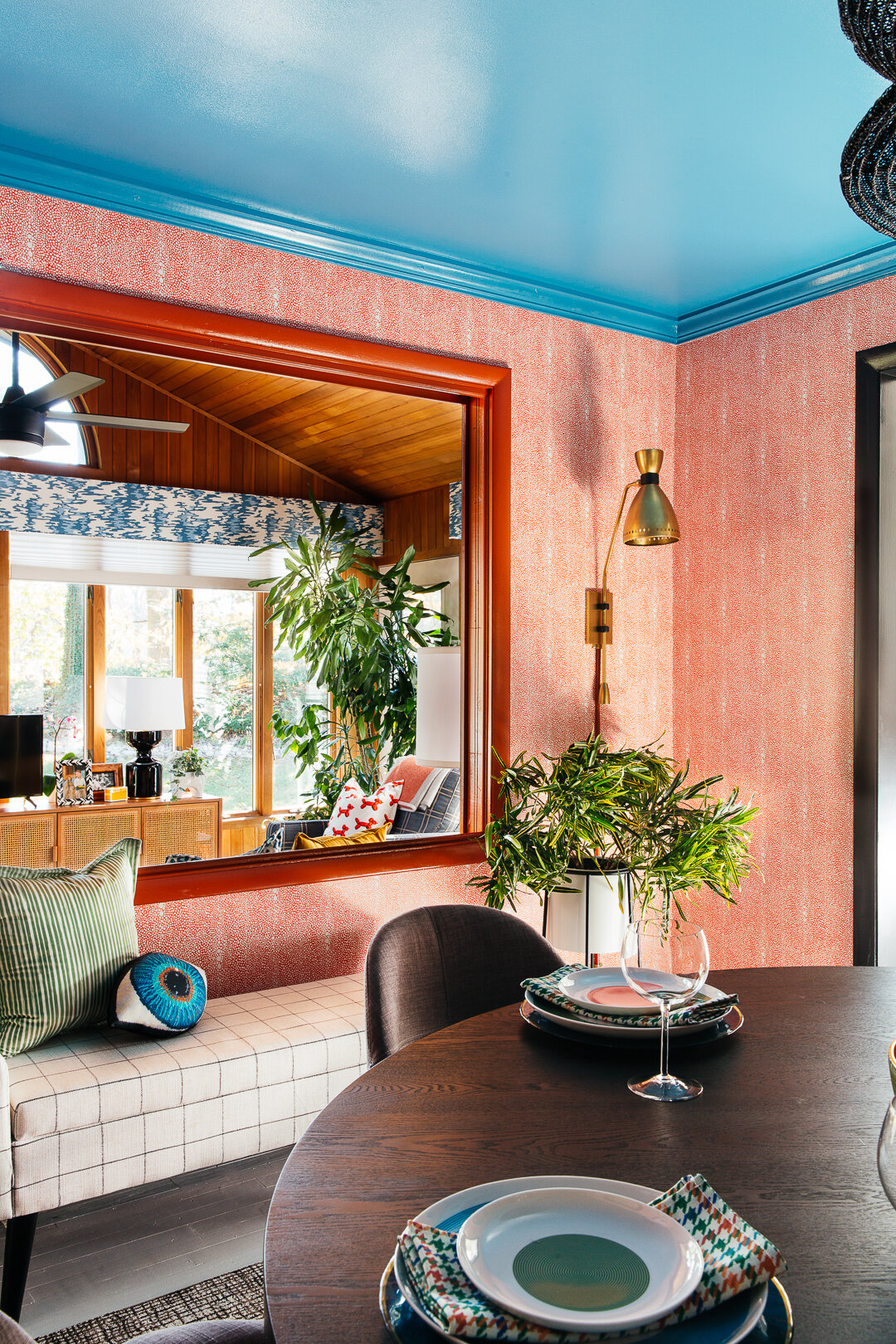 sm ORC dining room with right sconce looking through window into sunroom by TheRathProject.jpg