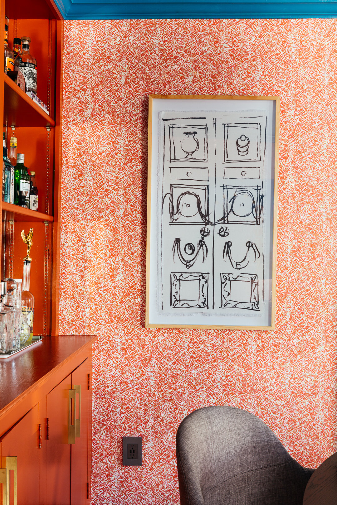 sm ORC dining room with shagreen pumpkin wallpaper spoonflower designed by TheRathProject.jpg