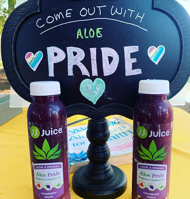 Come out with Pride Weekend - Come enjoy a refreshing Aloe Pride beverage today at Lake Eola.  #orlandopride #orlandopride2019 #aloepride #antioxidantdrink #aloedrink #madeinorlando #organicjuice #freshpressedjuice #downtownorlando