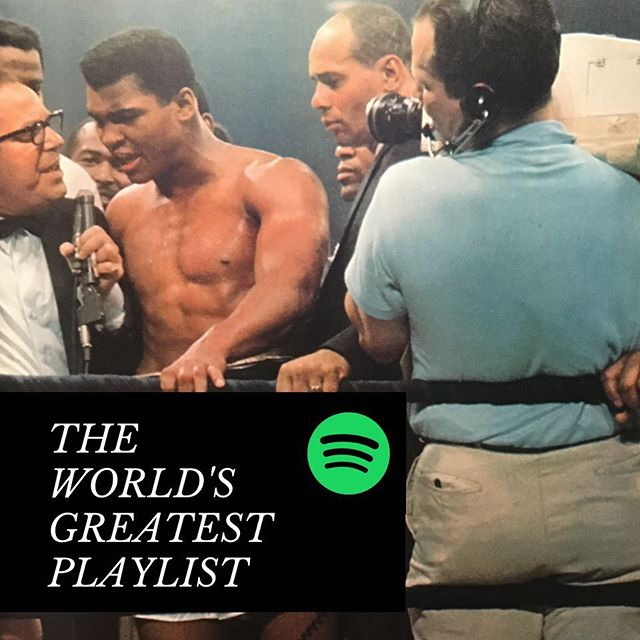 Are you traveling to a family get-together this weekend? We've got the greatest #roadtrip mix. Check out this collection of Muhammad Ali-inspired songs featuring oldies & goodies. Available now on @spotify.