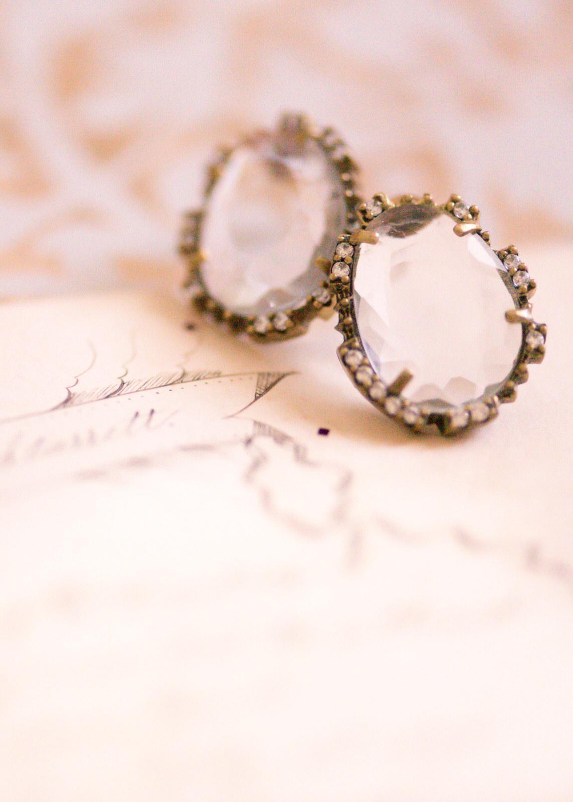 Vintage Bridal Jewelry Anthropologie Earrings Woodinville Seattle Wedding.jpg