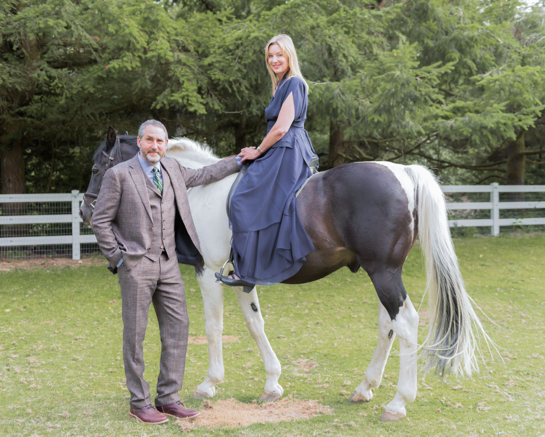 Bainbridge Island Wedding Vintage Engagement Portrait Horse Farm.jpg
