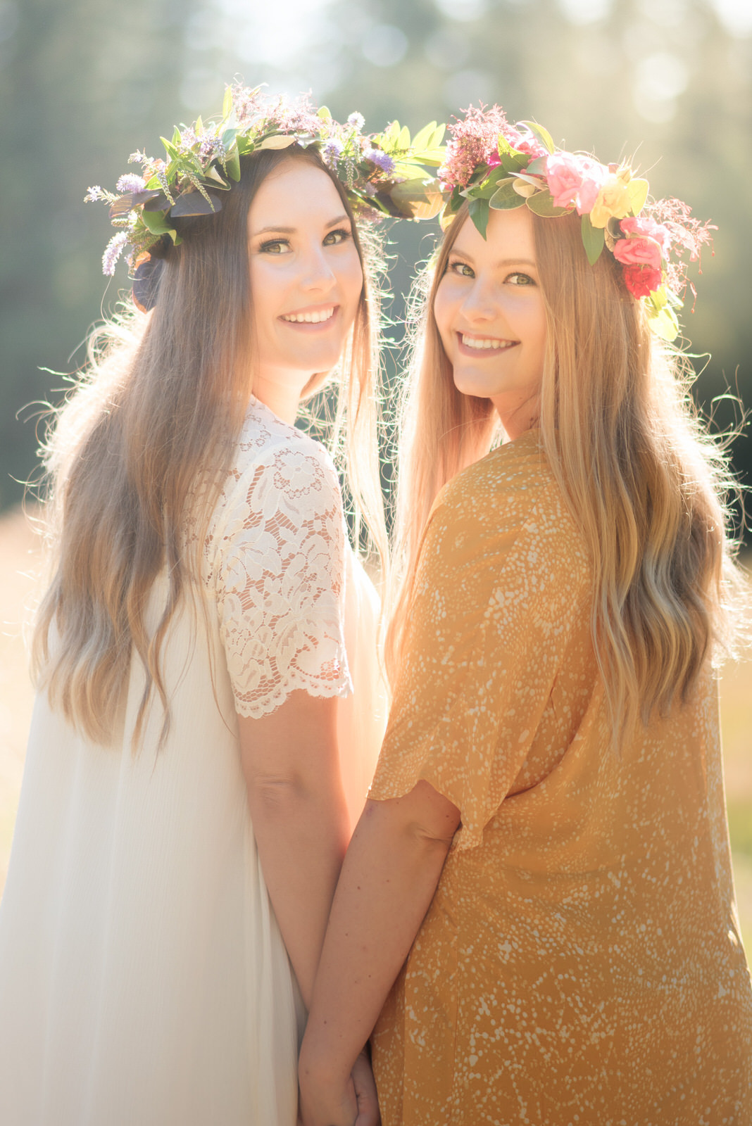 Sisters Portrait Grand Forest Bainbridge Island Bohemian Floral Crown.jpg