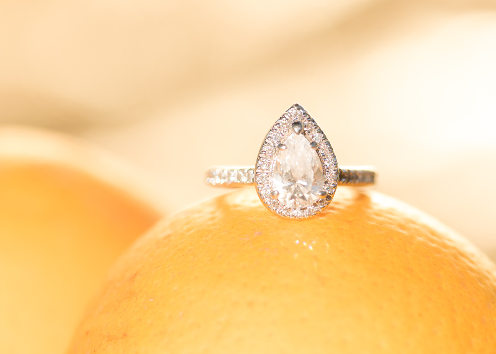 Pear Shaped Diamond Engagement Ring Goldfarb Bellevue.jpg