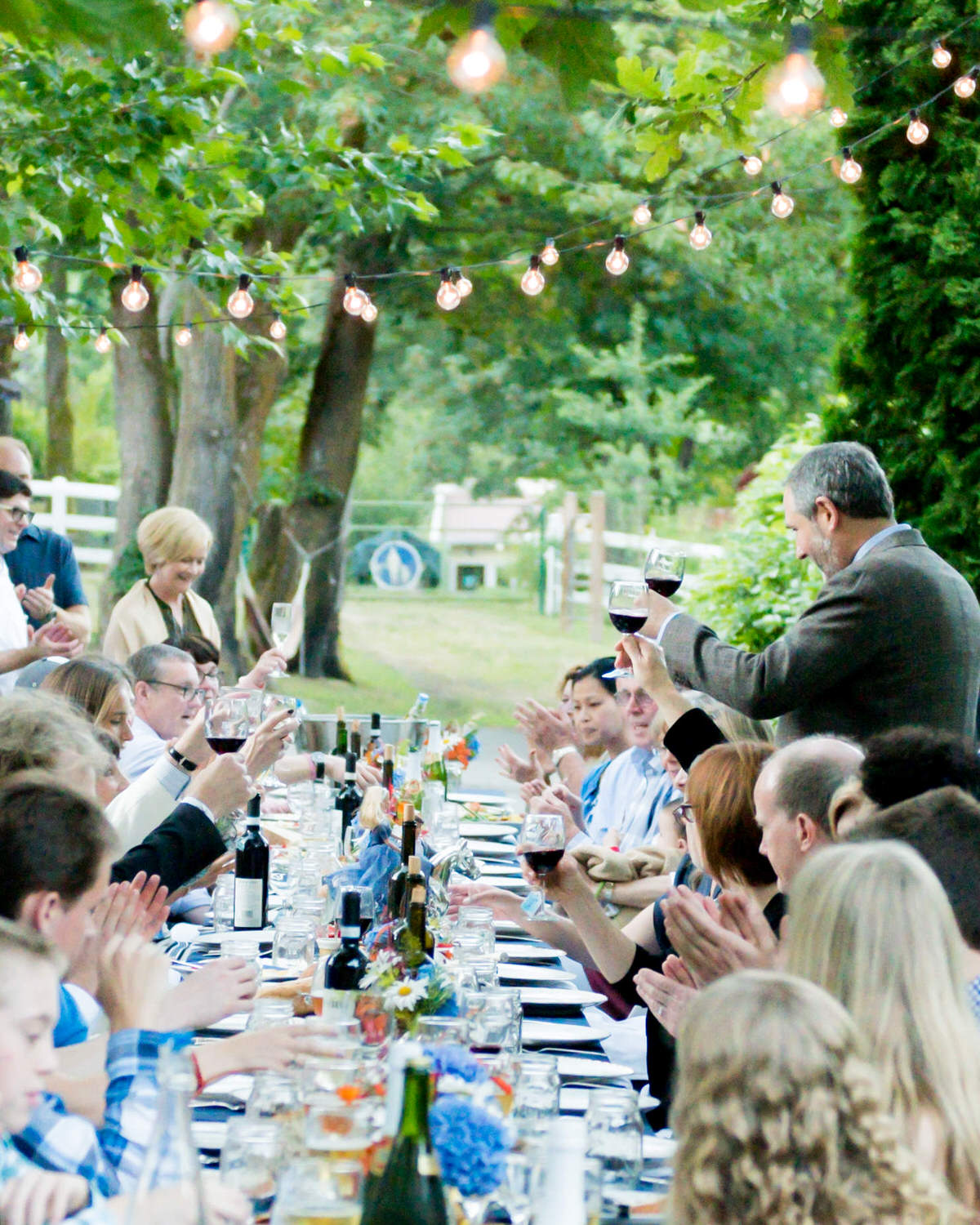 Woodinville Winery Outdoor Casual Seattle French Provincial Wedding Toast.jpg