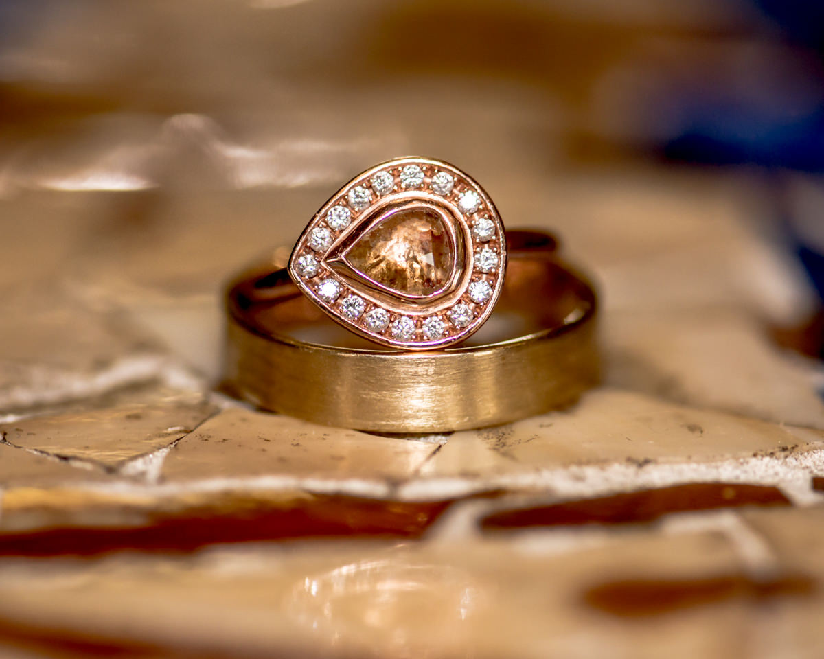 Engagement Ring Robbins Brothers Rose Gold Yellow Diamond Seattle.jpg