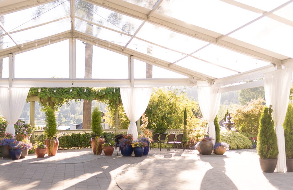 Manor House Solarium ~ a quick snap I took recently for a wedding recently as it was being set up