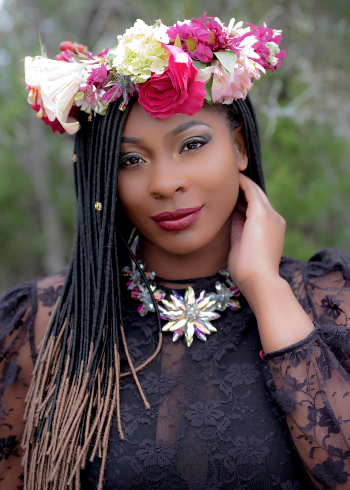 Modeling Plus Size Seattle African American Multicultural Floral Fine Art 2.jpg