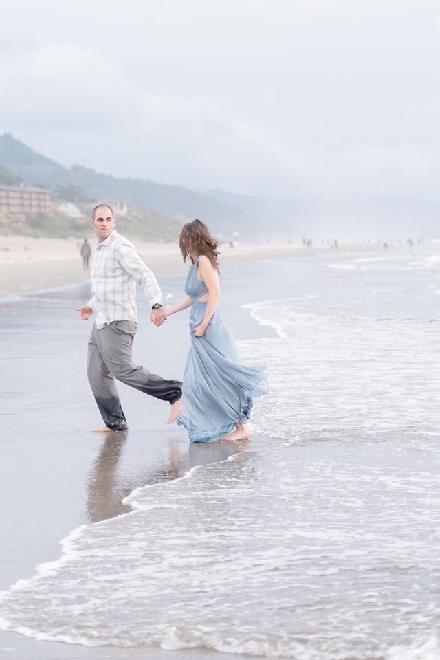 Beach Engagement photos PNW