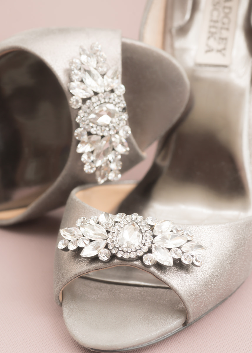 Badgley Mischka Wedding Silver Diamond Encrusted Open toe Peep Woodinville Bellevue Heel.jpg