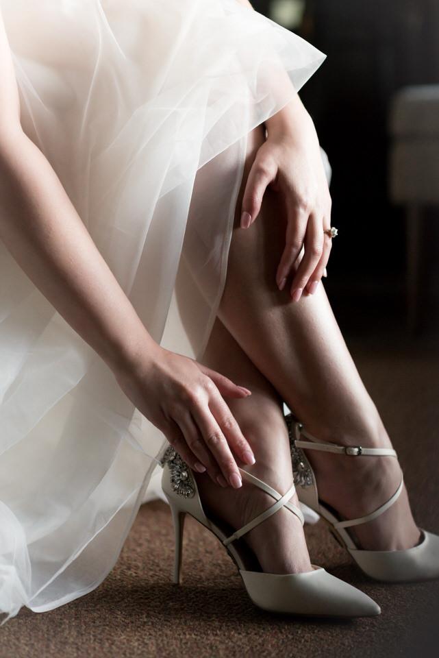 bride high heels wedding tulle dress Seattle Christina Servin Photographs.jpg