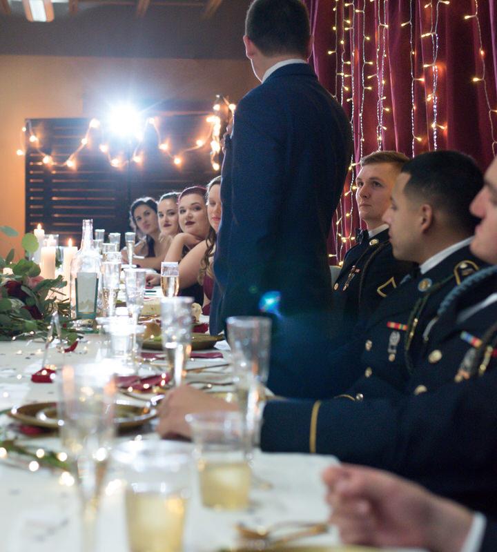 indoor winter wedding Seattle toast cservinphotographs.jpg