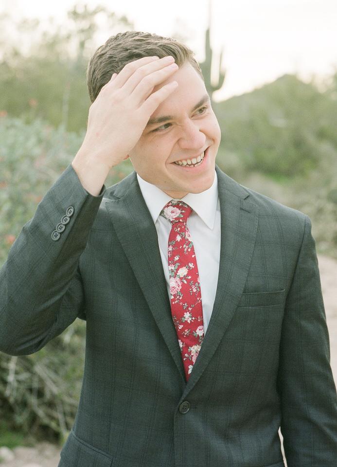Usery Pass Groom Red Tie and Suit Arizona Desert Winter Christina Servin Photographs-5.jpg