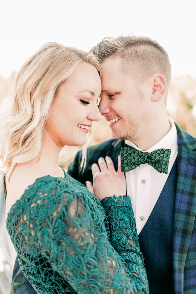 Fremont Bridge Elegant Engagement Session Lace Gown Suit and Bow Tie Seattle CServinPhotographs-10.jpg