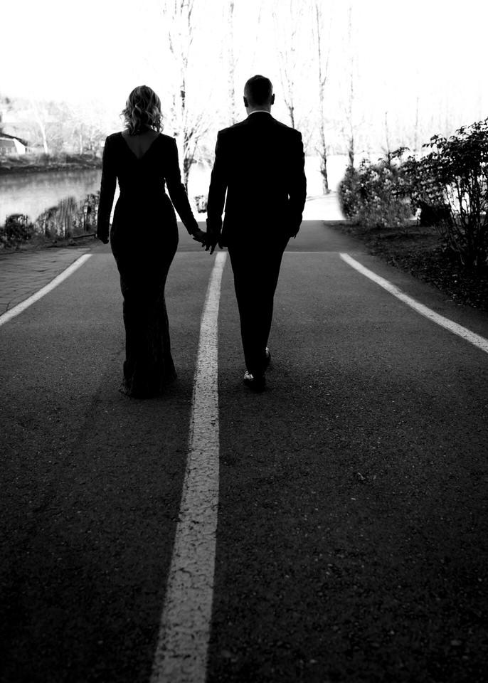 Gas Works Park Engagement Session Winter Formal Long Gown Suit Bow Tie Seattle Film CServinPhotographs-1.jpg