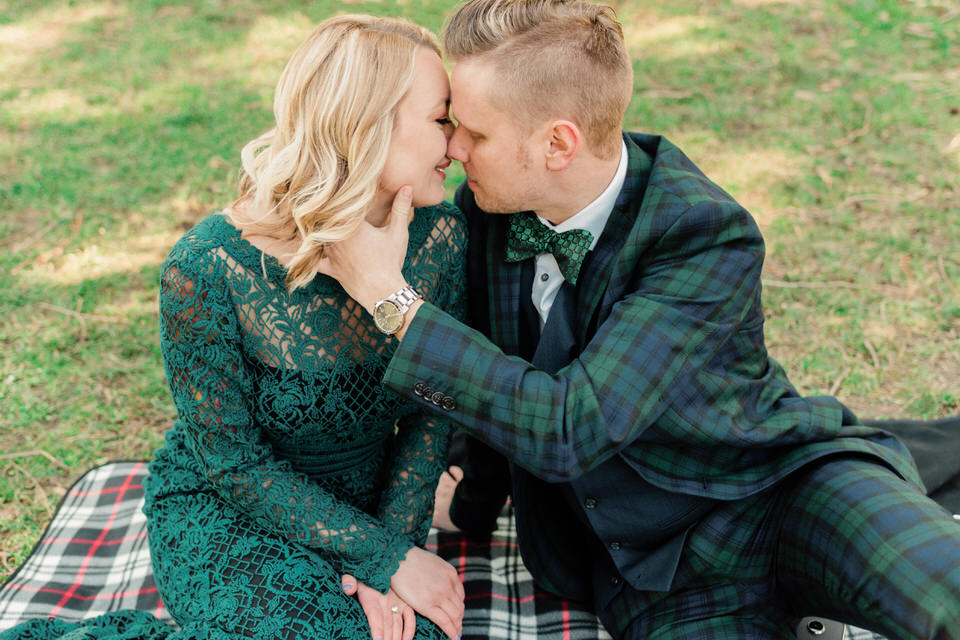 Seattle Park Engagement Session Lace Gown Suit and Tie Formal CServinPhotographs Winter-4.jpg