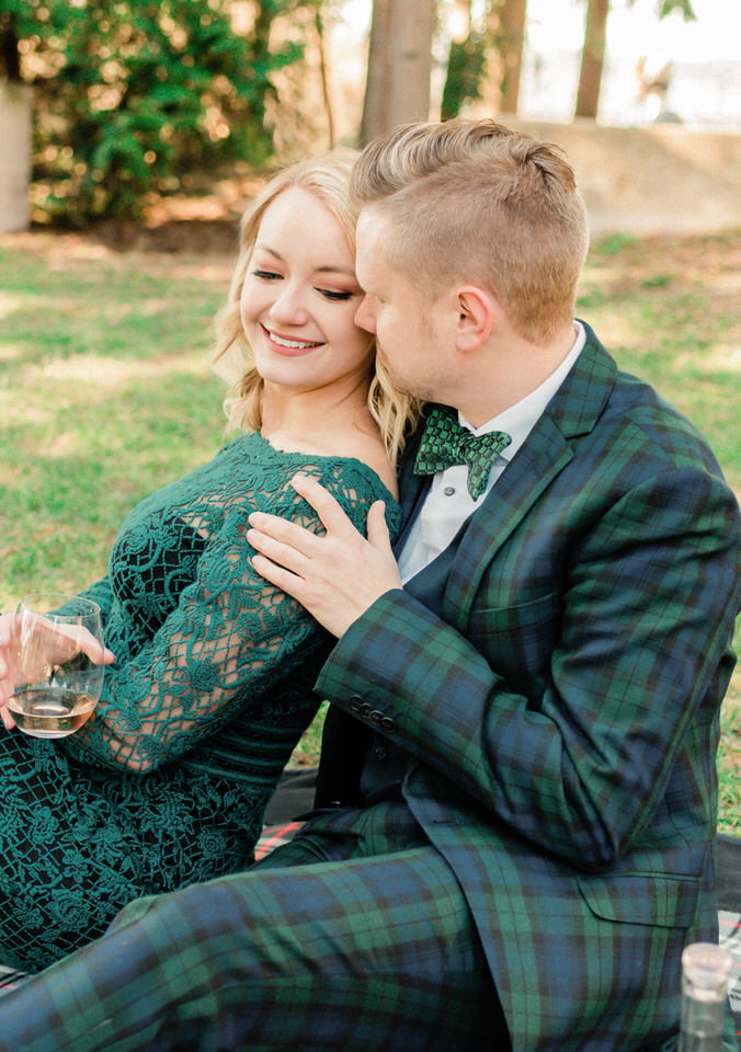 Seattle Park Engagement Session Lace Gown Suit and Tie Formal CServinPhotographs Winter-7.jpg